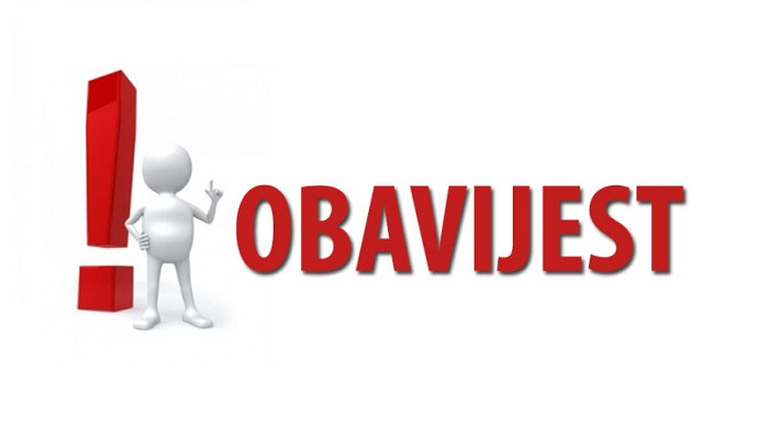 OBAVIJEST - TESTIRANJE NA COVID-19