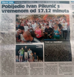 Ivan Pikunić pobjednik atletske utrke