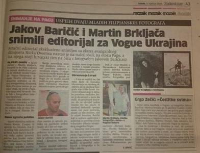 Jakov Baričić i Martin Brkljača snimili editorijal za Vogue Ukrajina