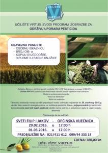Izobrazba o održivoj uporabi pesticida (Učilište Virtus)