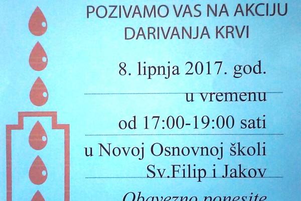 Akcija dobrovoljnog darivanja krvi DDK aktiva Sv.Filip i Jakov
