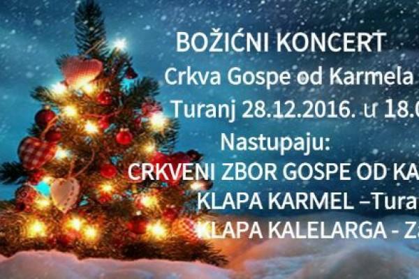 NAJAVA: Božićni koncert u crkvi Gospe od Karmela u Turnju