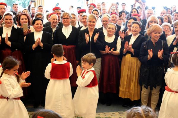 KUD Sv. Roko sudjelovao na Danima otvorenih vrata kod predsjednice Republike Kolinde Grabar-Kitarović