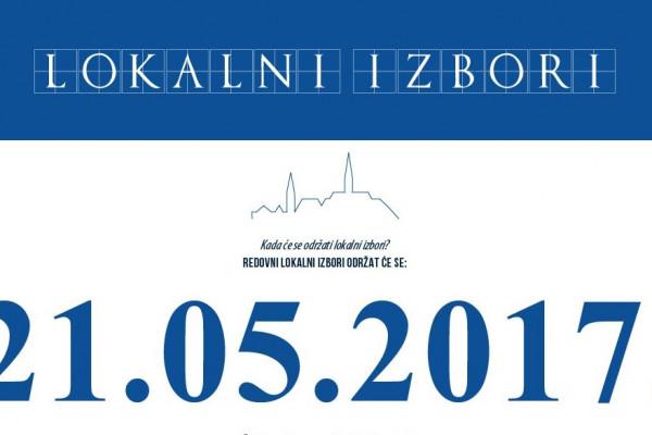 LOKALNI IZBORI - 21.05.2017. godine