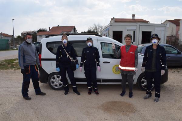 Akcija Stožera civilne zaštite Općine Sv.Filip i Jakov.